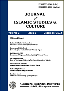 Journal of Islamic Studies and Culture