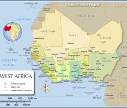 a-thurston-west-africa-political-map