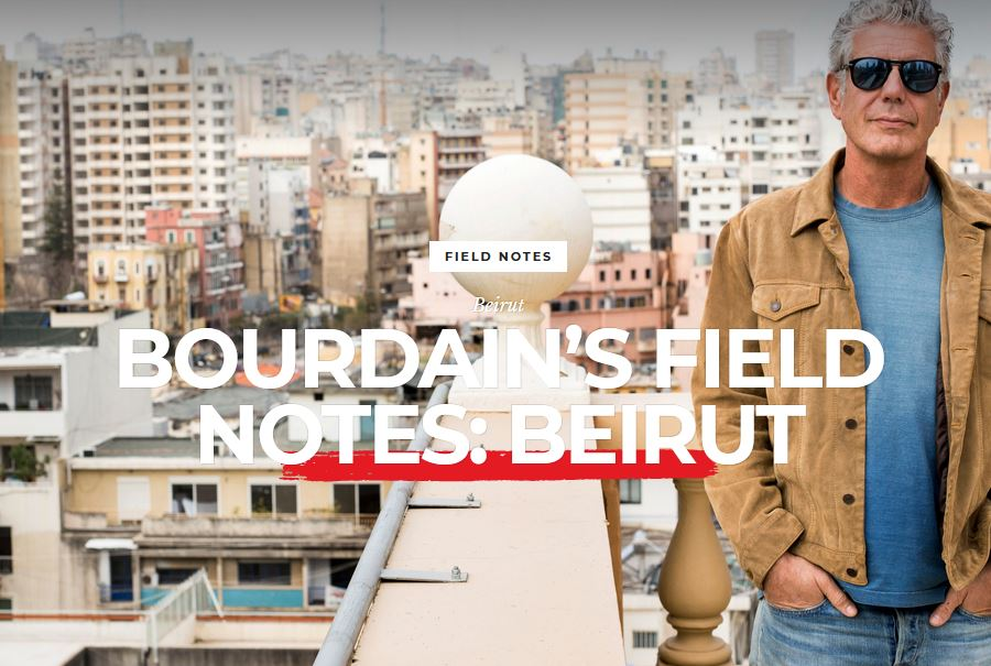 Bourdain's field notes: Beirut