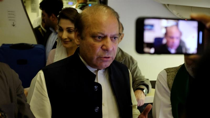 Ex-PM Nawaz Sharif and Daughter 'Arrested' on Return to Pakistan