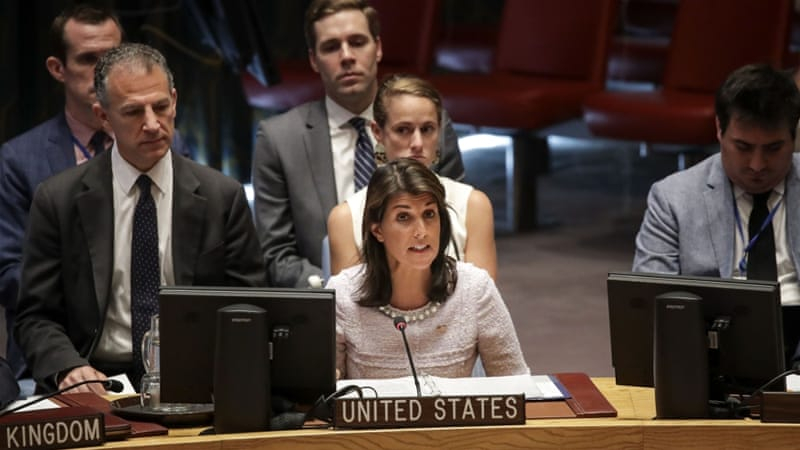 US Envoy to UN: Arab States Do Not Really Support Palestine