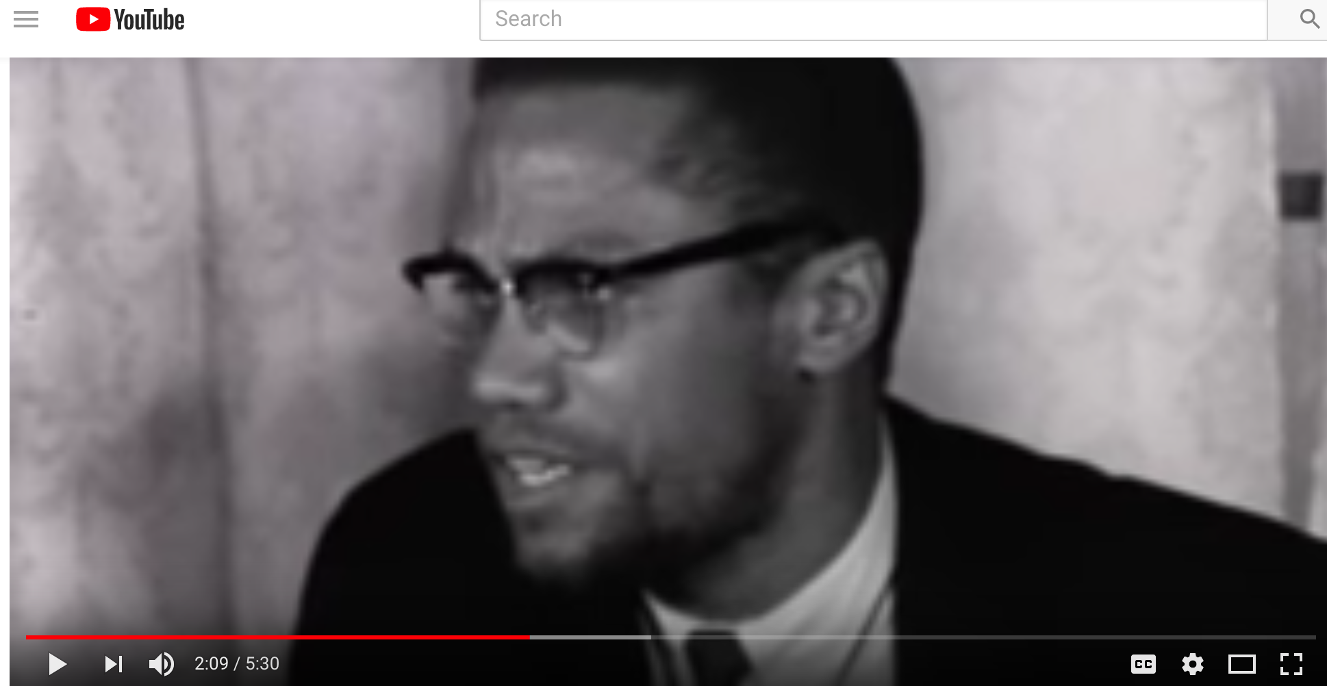 Malcolm X After Return from Hajj