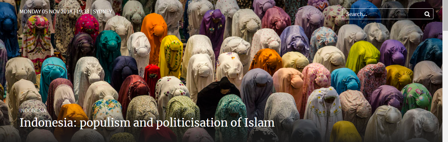 Indonesia: populism and politicisation of Islam