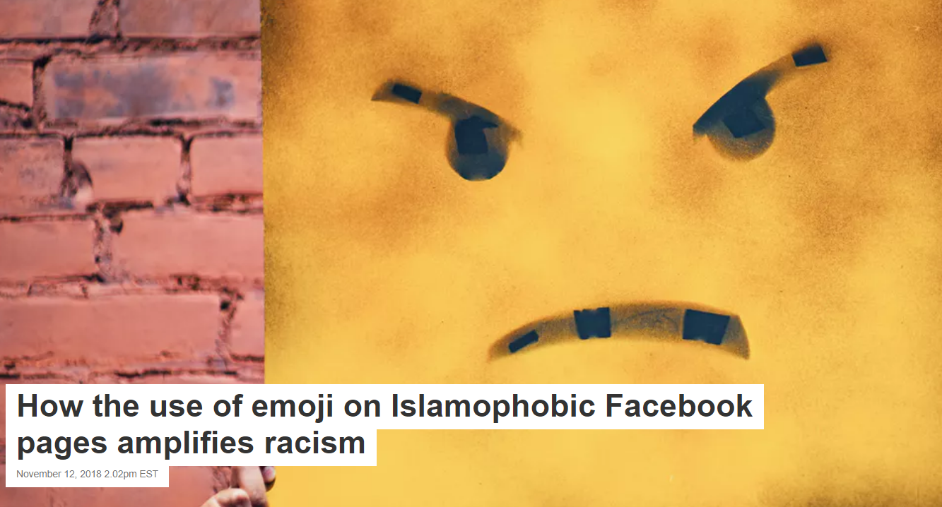 How the use of emoji on Islamophobic Facebook pages amplifies racism