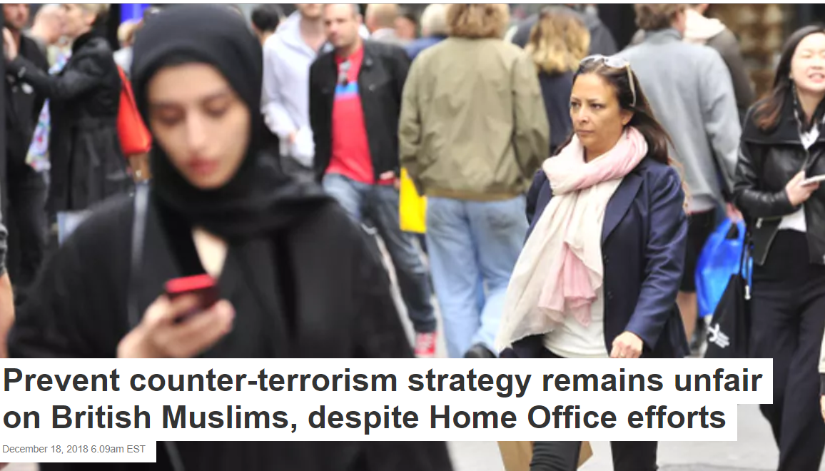 Prevent counter-terrorism strategy remains unfair to British Muslims, despite Home Office efforts