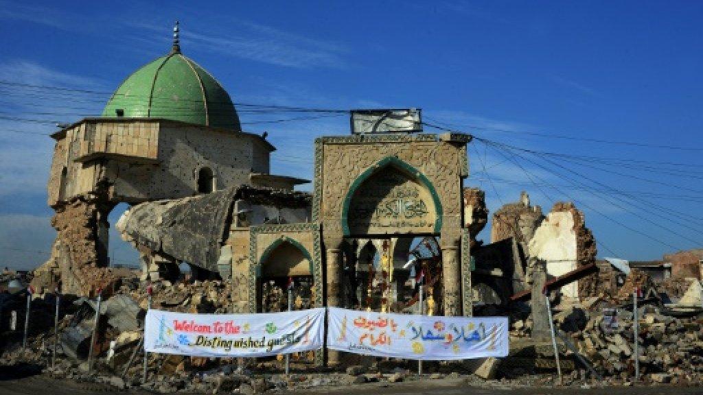 Iraq lays cornerstone to rebuild iconic Mosul mosque
