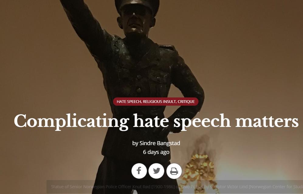 Complicating hate speech matters