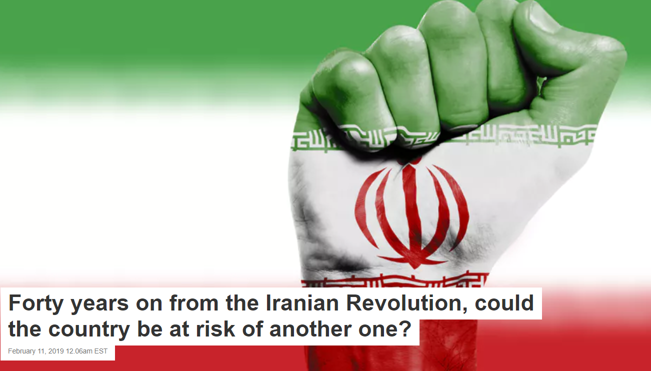 Forty years on from the Iranian Revolution, could the country be at risk of another one?