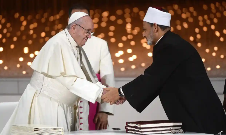 Pope and grand imam sign historic pledge of fraternity in UAE