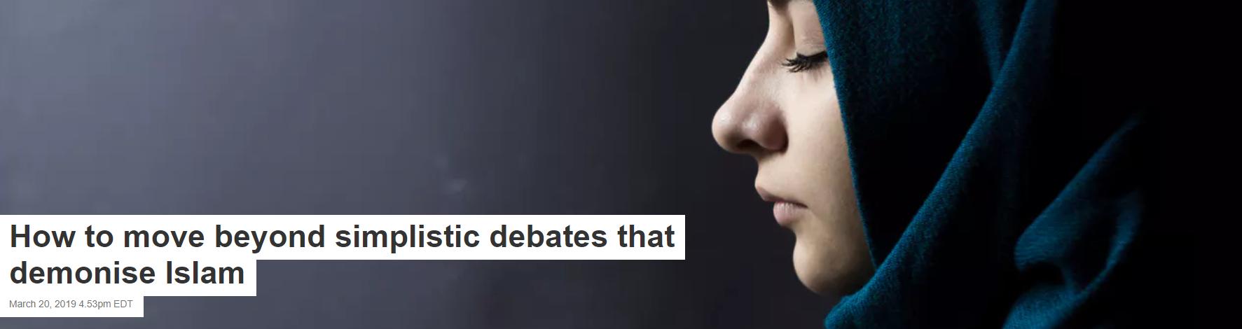 How to move beyond simplistic debates that demonize Islam