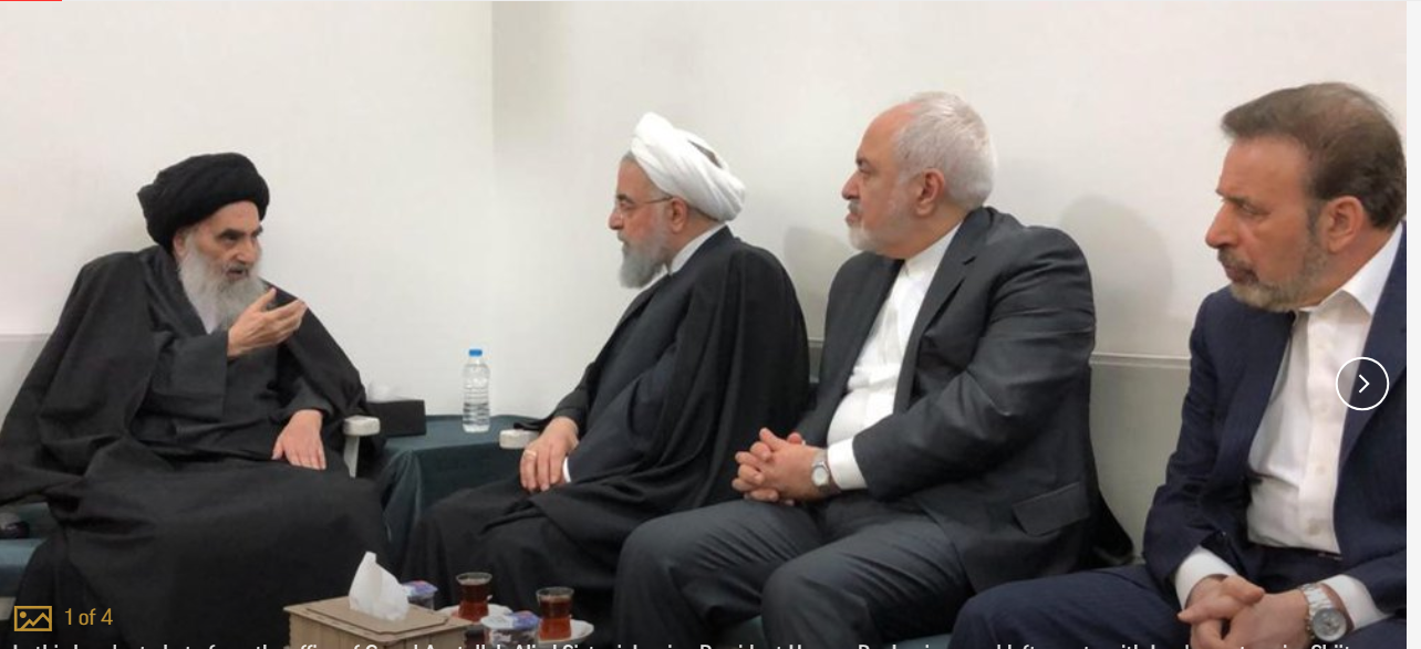 Iranian president meets Iraq's most senior Shiite cleric