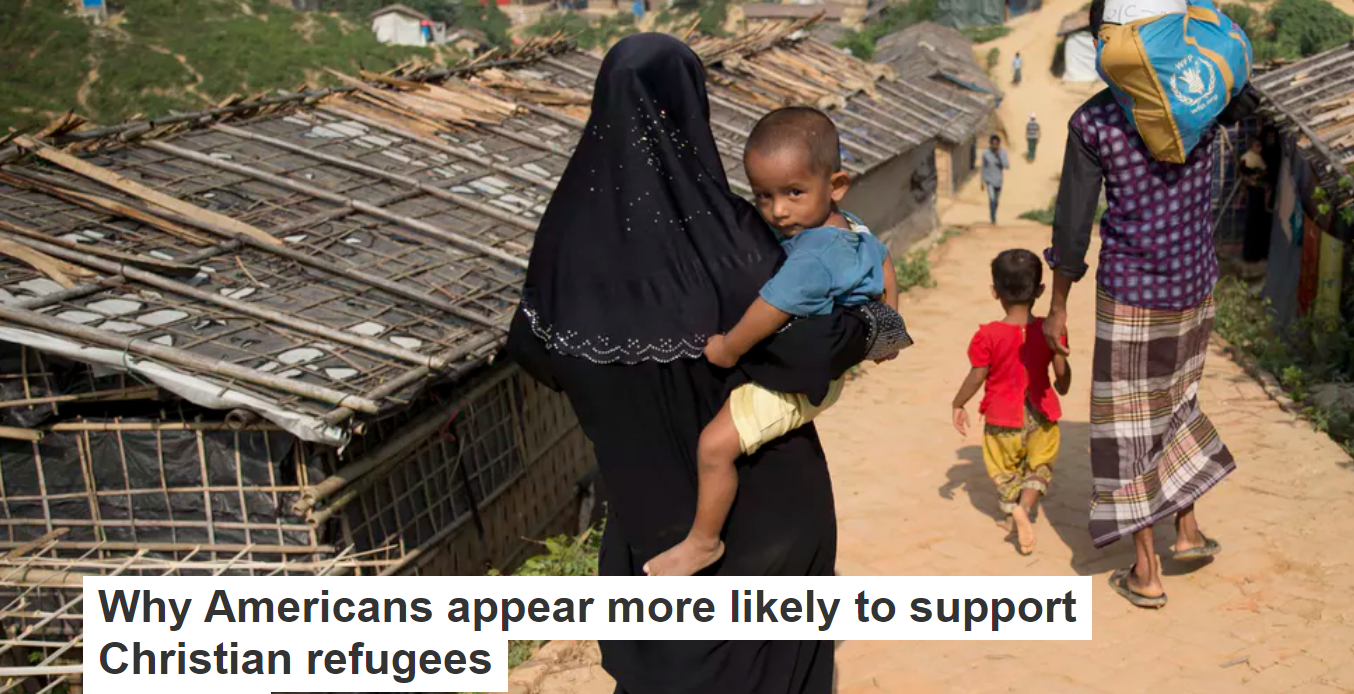 Why Americans appear more likely to support Christian refugees