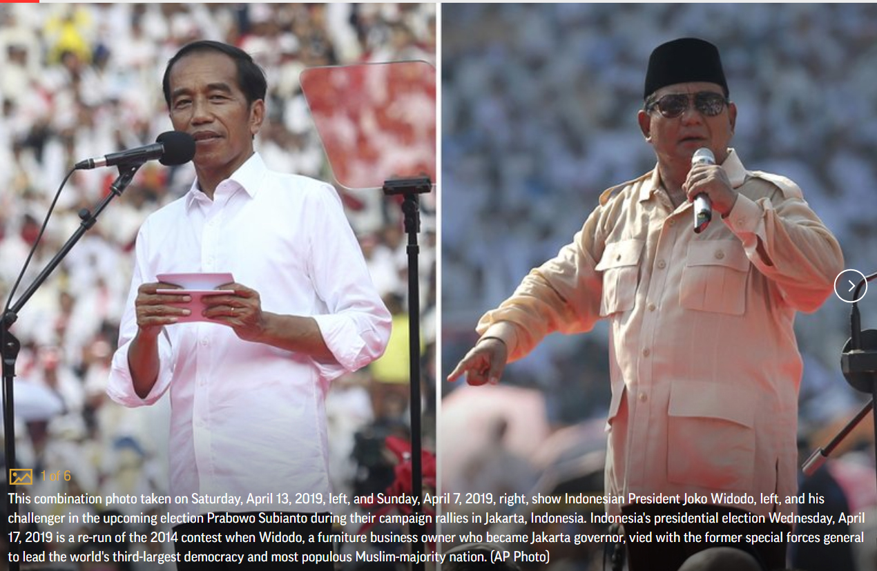 Indonesia candidates: Metal fan, cleric, soldier, tycoon