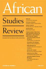 African Studies Review Pipeline for Emerging African Scholars Workshop
