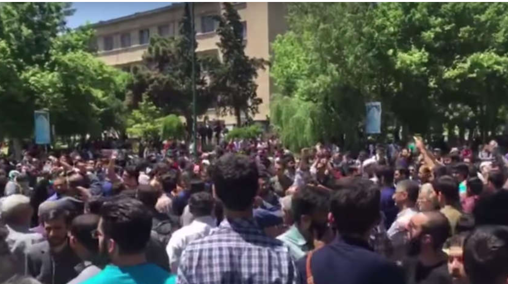 Students rally against hijab crackdown at Iran's largest university