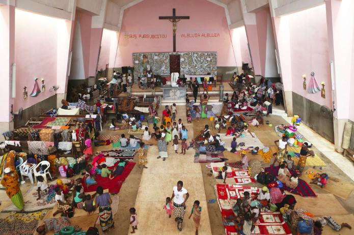 Mozambique church a refuge for Muslim cyclone survivors