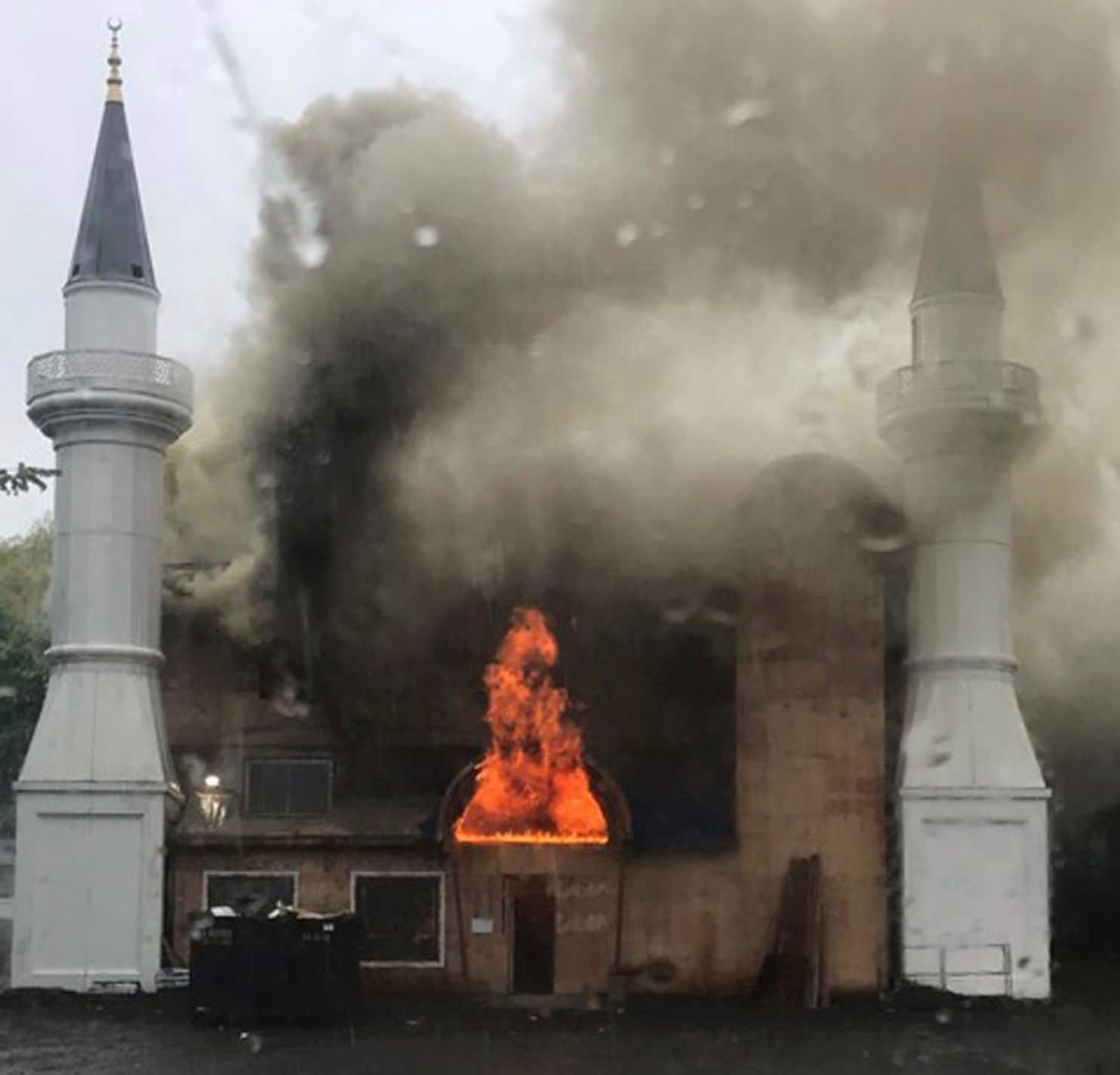 What it's like to see my husband's mosque in New Haven set on fire