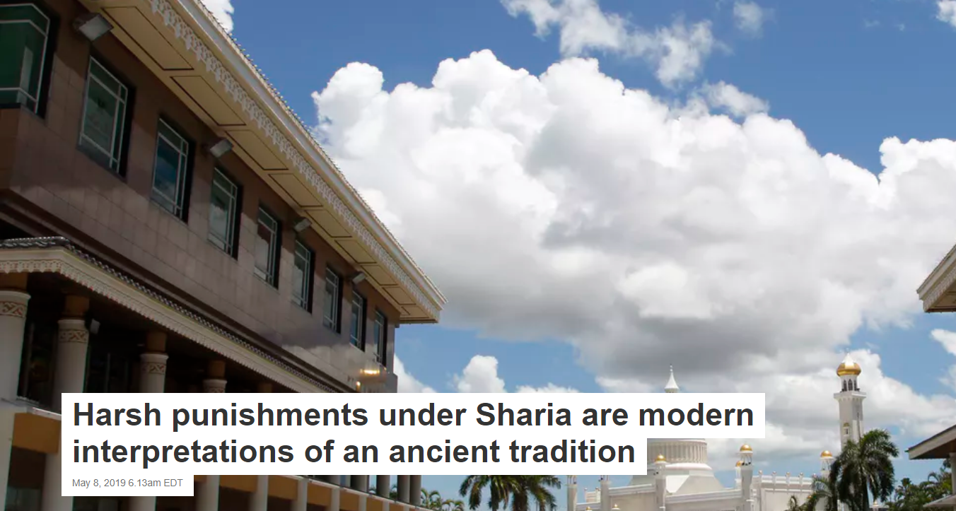 Harsh punishments under Sharia are modern interpretations of an ancient tradition