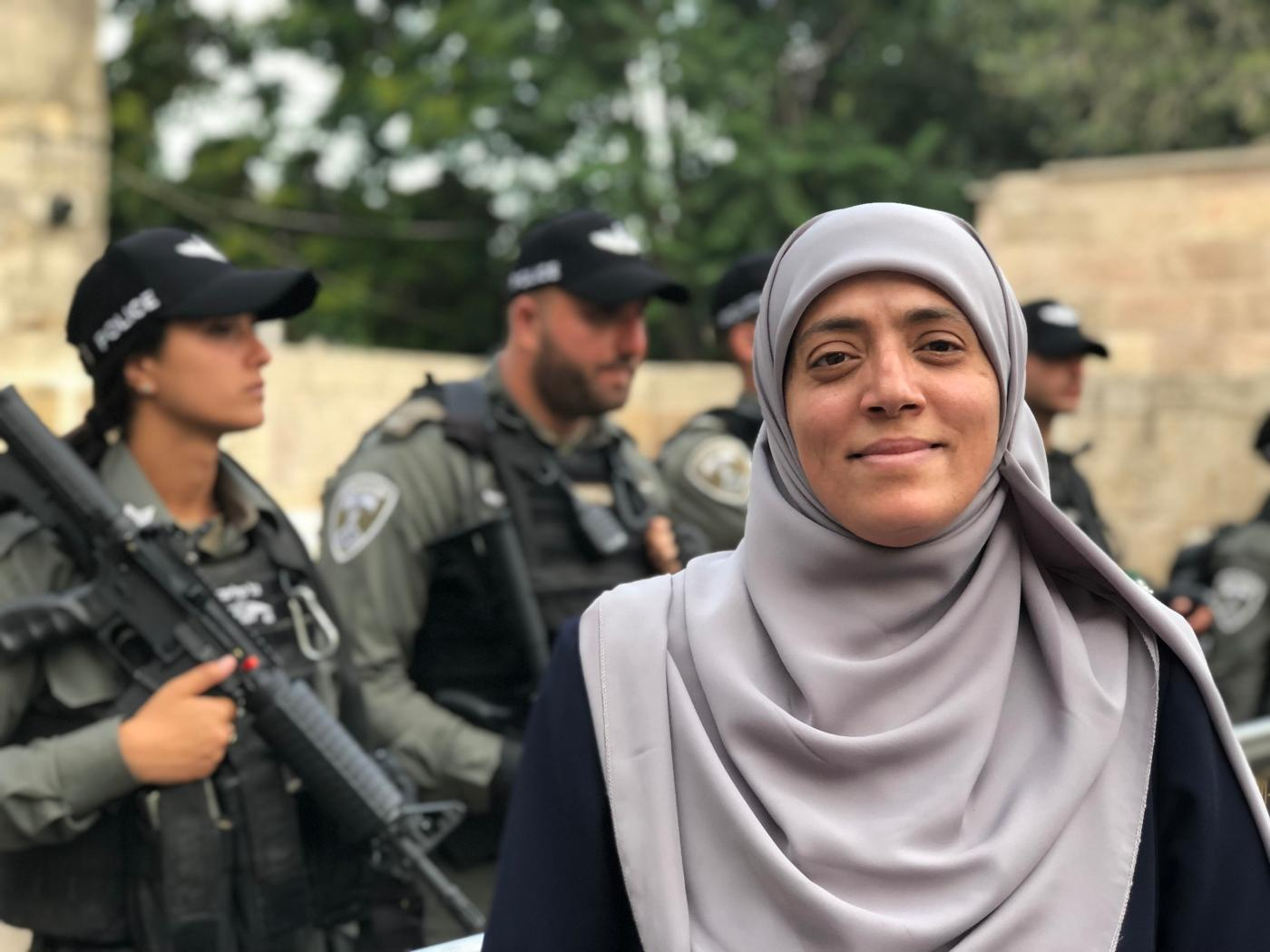 The Palestinian women standing up against Israeli incursions at Al-Aqsa