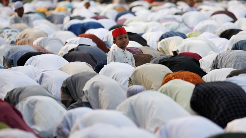 Muslims celebrate Eid al-Adha religious holiday