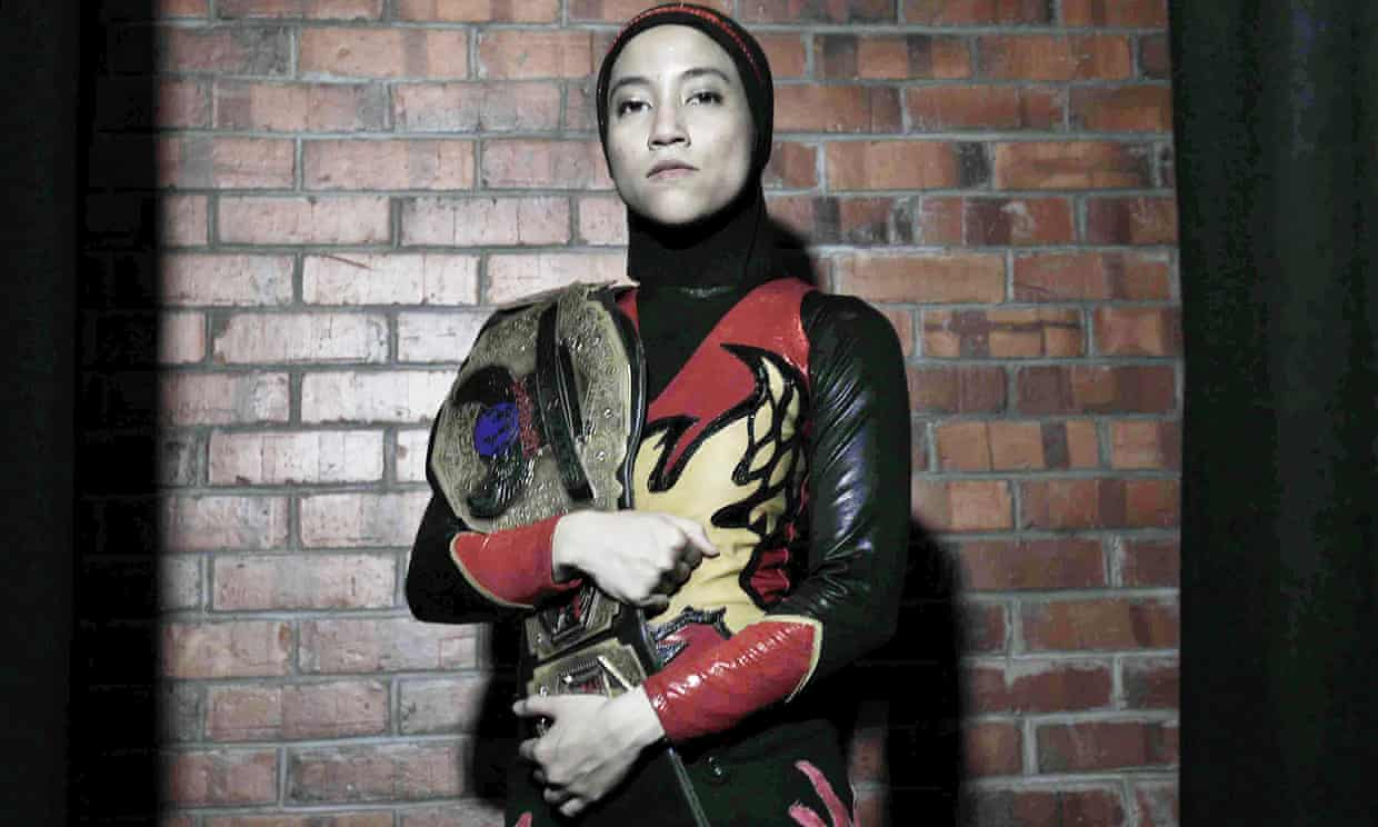 'I am really shy': introducing Phoenix, the world's first hijab-wearing champion wrestler