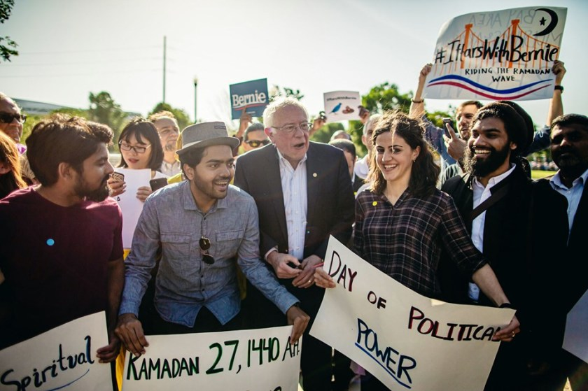 Why many Muslims treat Bernie Sanders like a rock star