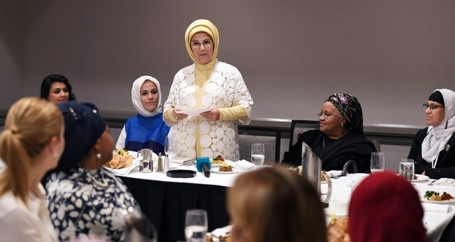 Turkey's first lady meets with women leaders of US Muslim community