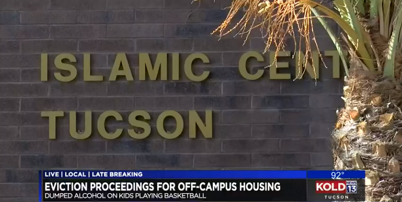 Evictions coming in alcohol-pouring incident at Islamic Center of Tucson