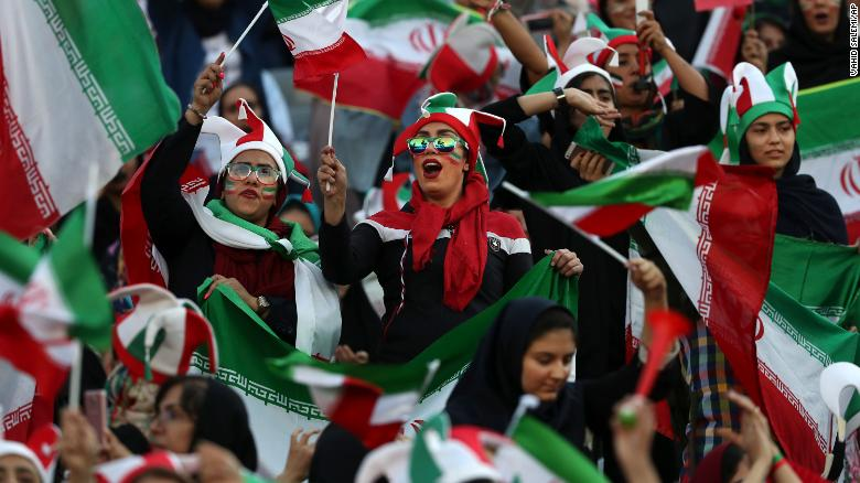Iranian Women Finally Allowed to Officially Watch Soccer Match after 40 Years