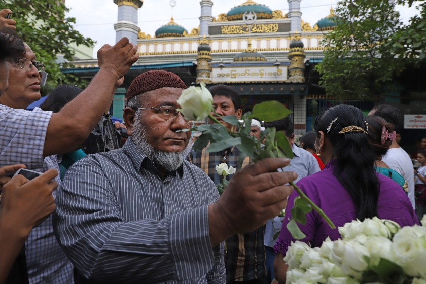 Buddhists Fight Violence against Muslims with Flower Power