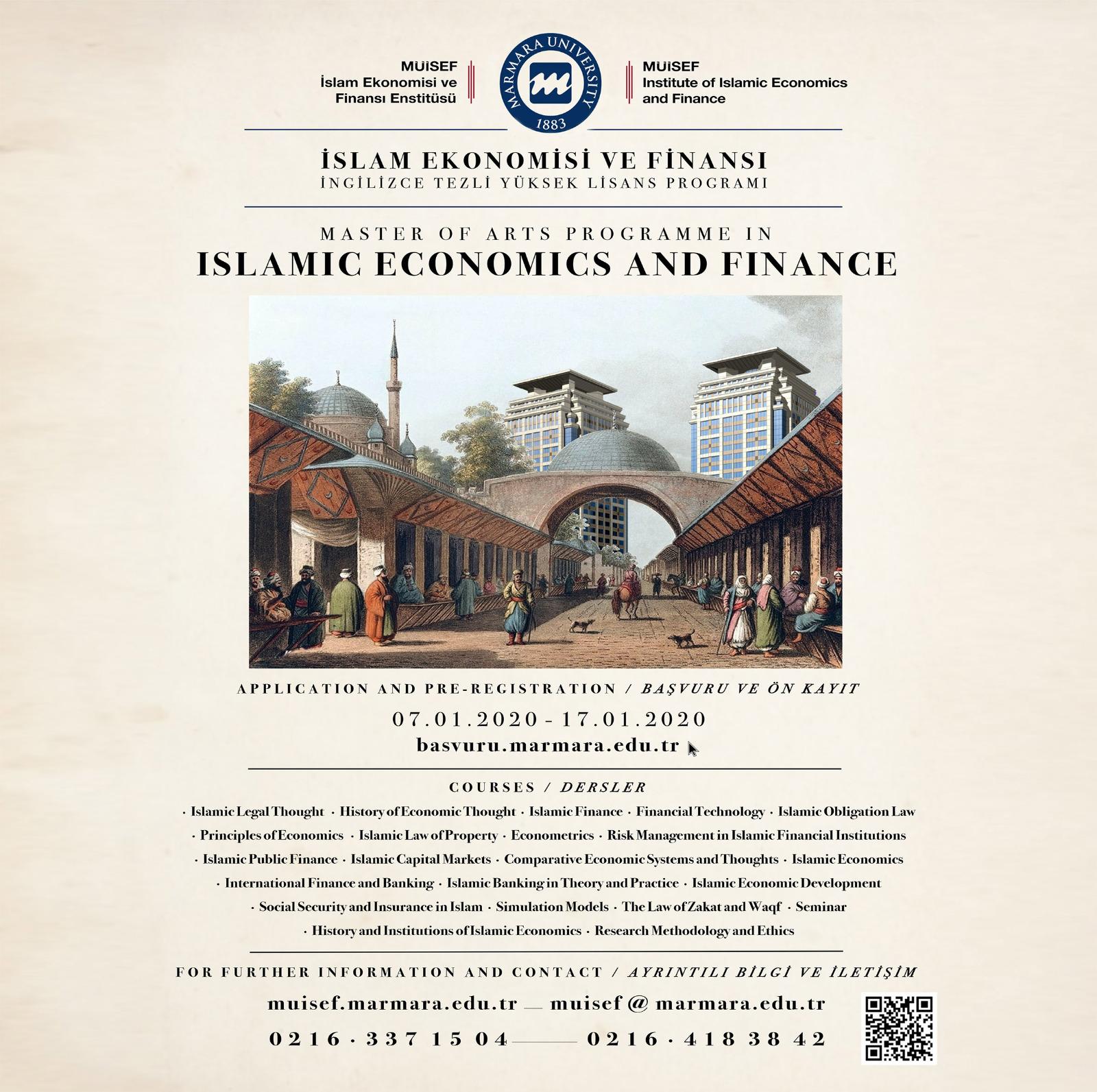 MA Program in Islamic Economics and Finance