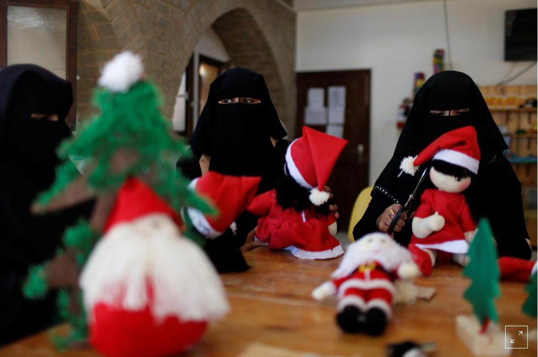 Muslim Women Spread Christmas Cheer in Gaza