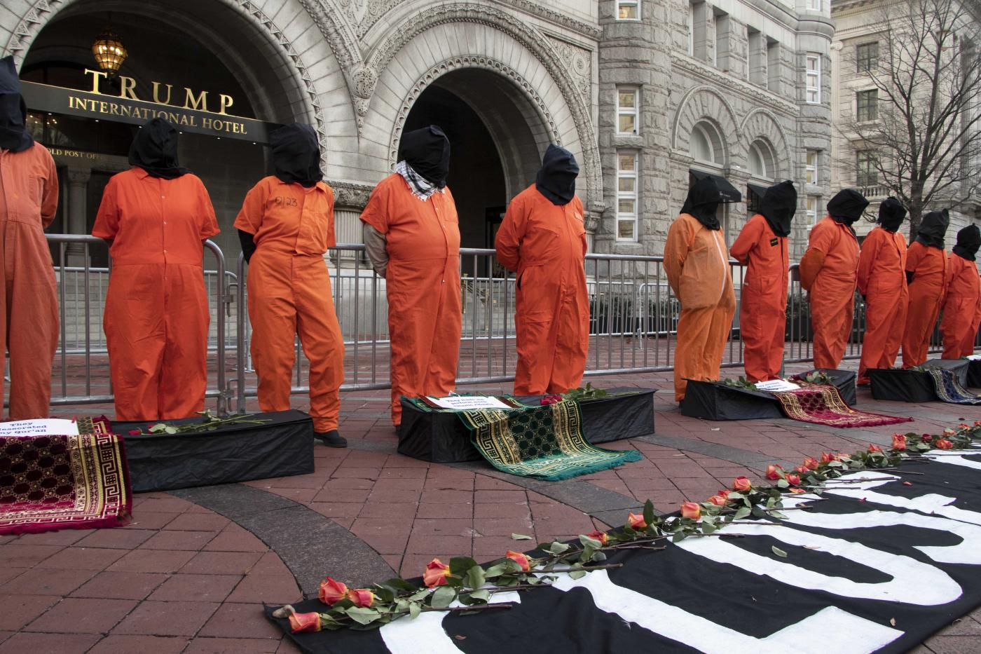 'Close Guantanamo': Protesters Rally in Washington on Anniversary of Prison Opening