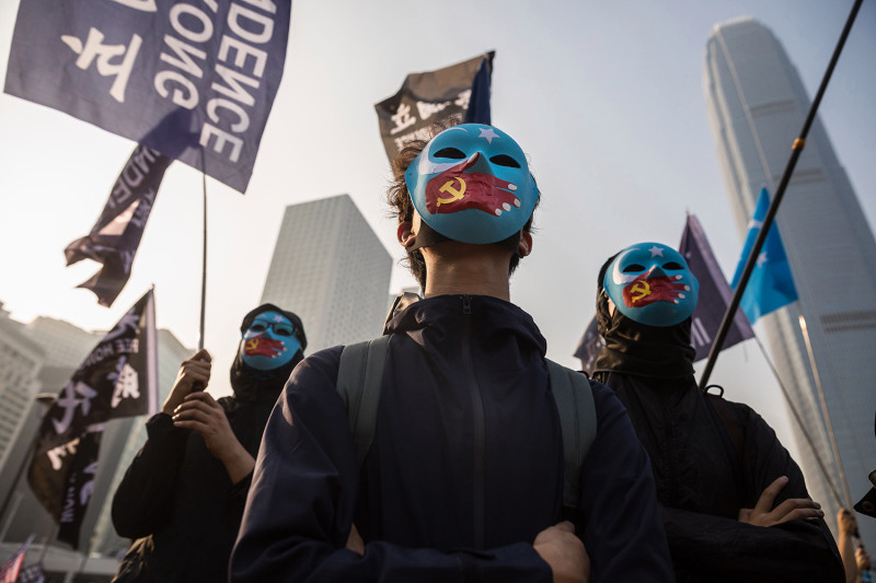 Hong Kong Rallies in Solidarity With Uighurs