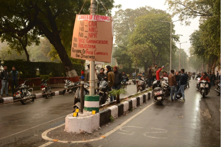 Police Stormed a University in India. Muslim Students Say the Violence Was an Act of Revenge.