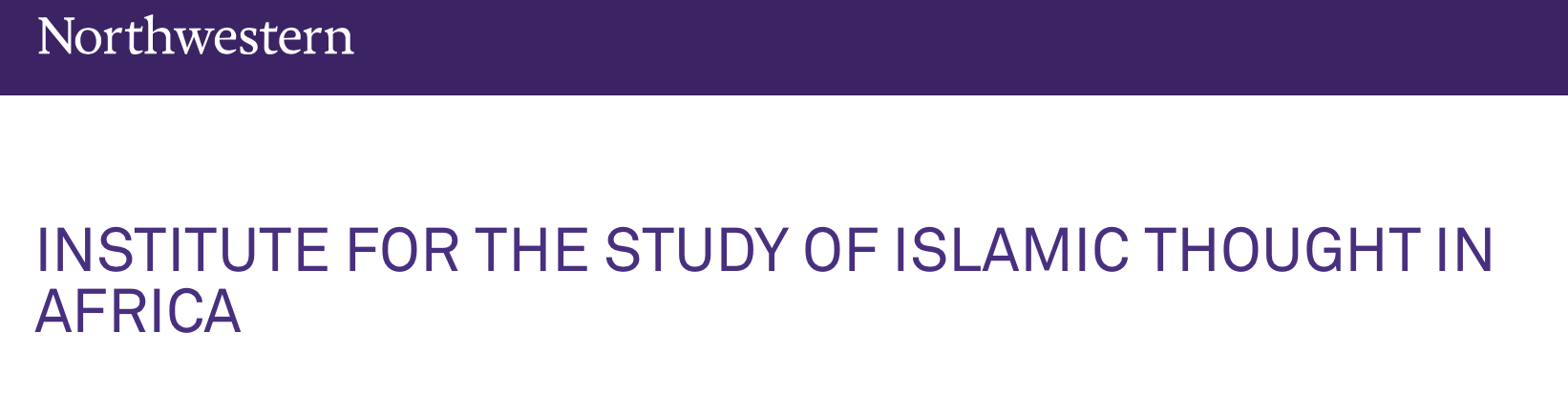 Institute for the Study of Islamic Thought in Africa