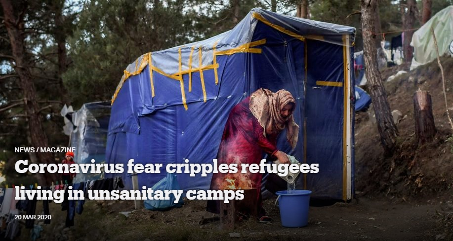 Coronavirus Fear Cripples Refugees Living in Unsanitary Camps