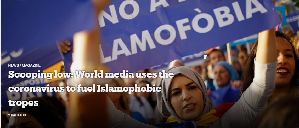 Scooping Low: World Media Uses the Coronavirus to Fuel Islamophobic Tropes