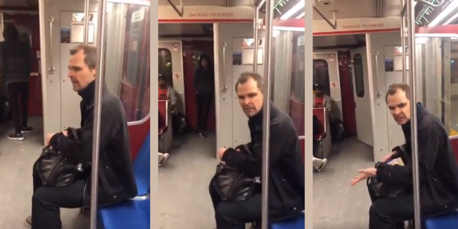Man Filmed Screaming Islamophobic Abuse at Woman on Canadian Subway
