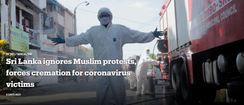 Sri Lanka Ignores Muslim Protests, Forces Cremation for Coronavirus Victims