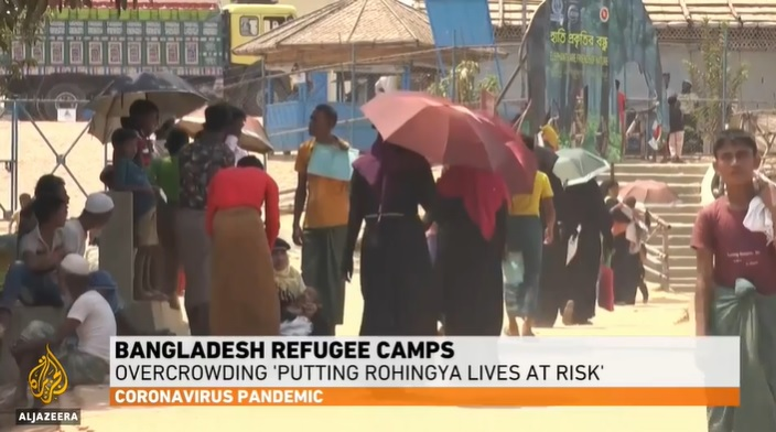 Rohingya Refugees in Bangladesh at Risk of COVID-19 Infection